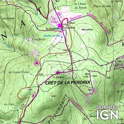 Département Loire (42) - 1 : 25 000
