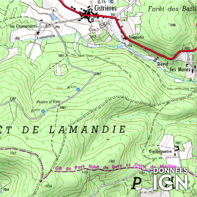Département Haute-Loire (43) - 1 : 25 000