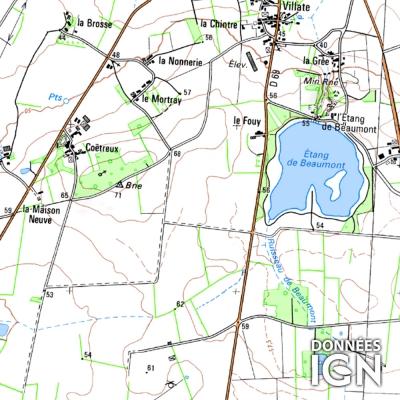 Département IGN - Loire-Atlantique 44 - 1 : 25 000