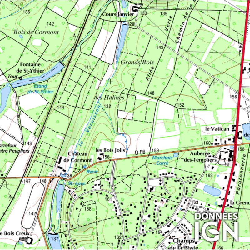 Département IGN - Loiret 45 - 1 : 25 000