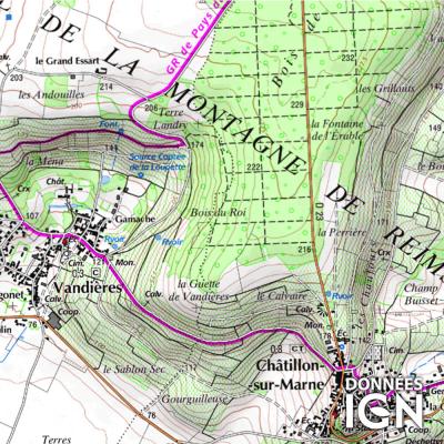 Département Marne (51) - 1 : 25 000