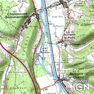 Département Haute-Marne (52) - 1 : 25 000
