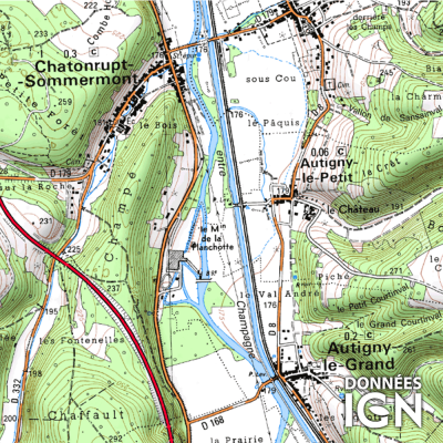 Département IGN - Haute-Marne 52 - 1 : 25 000