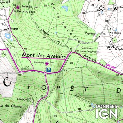 Département Mayenne (53) - 1 : 25 000