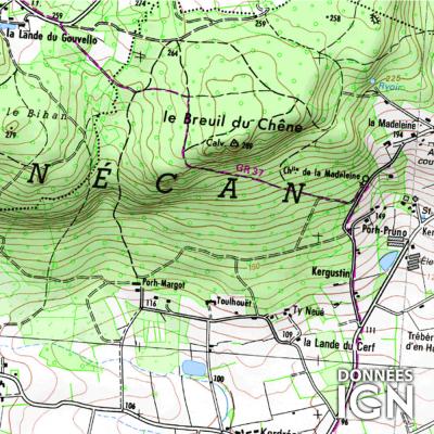 Département Morbihan (56) - 1 : 25 000