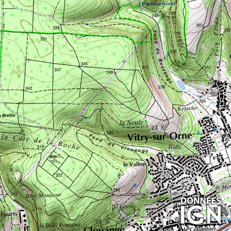 Département IGN - Moselle 57 - 1 : 25 000