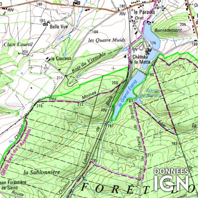 Département IGN - Nord 59 - 1 : 25 000
