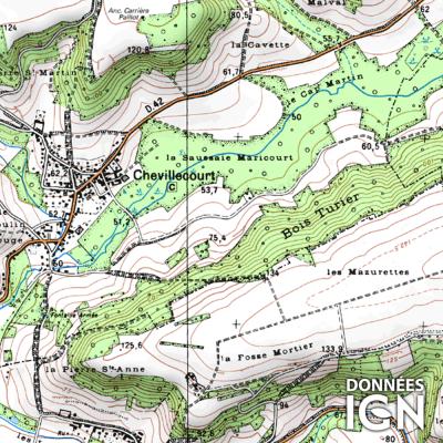Département Oise (60) - 1 : 25 000