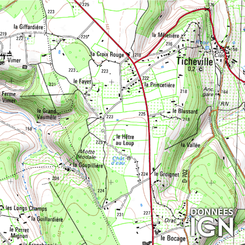 Département IGN - Orne 61 - 1 : 25 000
