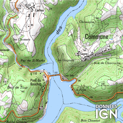 Département IGN - Puy de Dome 63 - 1 : 25 000