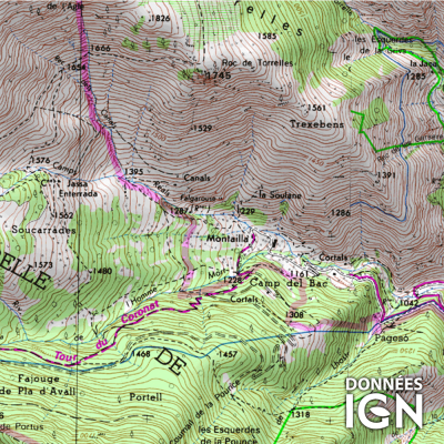 Département Pyrénées-Orientales (66) - 1 : 25 000