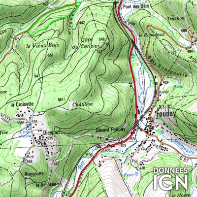 Département IGN - Bas-Rhin 67 - 1 : 25 000