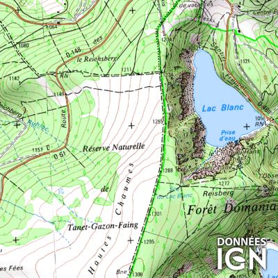 Département IGN - Haut-Rhin 68 - 1 : 25 000