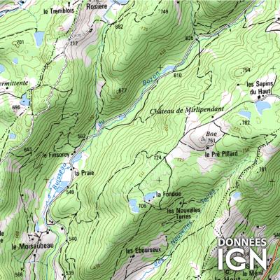 Département IGN - Haute-Saône 70 - 1 : 25 000