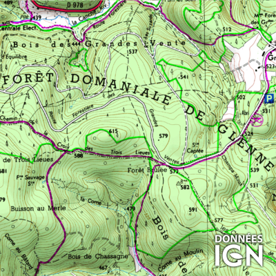 Département IGN - Saône-et-Loire 71 - 1 : 25 000