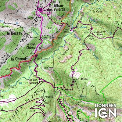 Département IGN - Savoie 73 - 1 : 25 000