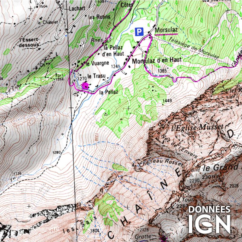 Département IGN - Haute-Savoie 74 - 1 : 25 000