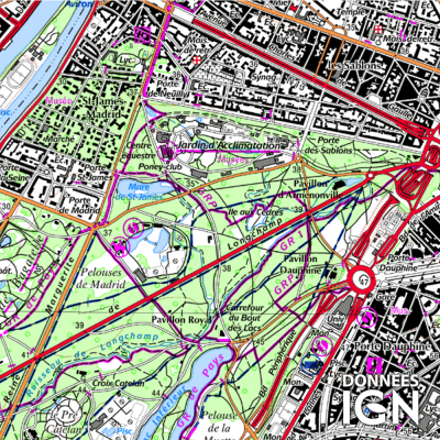Département Paris (75) - Satellite - 1 : 25 000