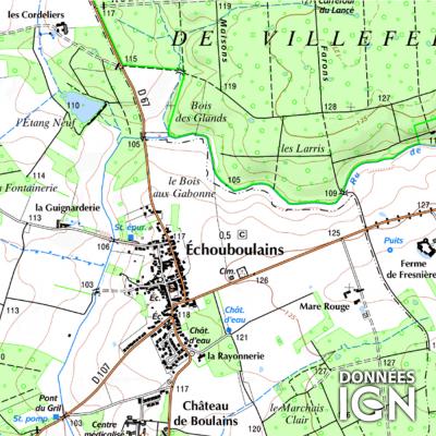 Département Seine-et-Marne (77) - 1 : 25 000