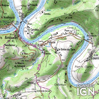 Département Tarn (81) - 1 : 25 000
