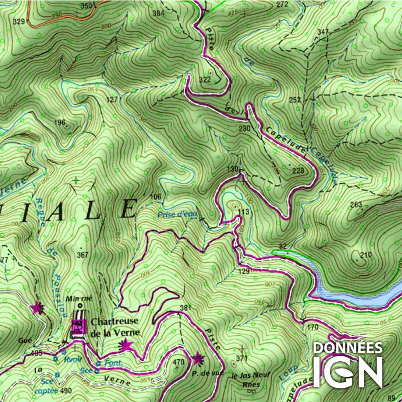 Département IGN - Var 83 - 1 : 25 000