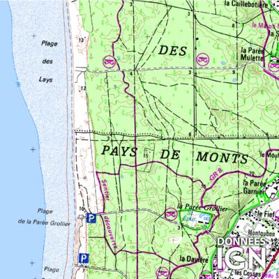 Département IGN - Vendée 85 - 1 : 25 000