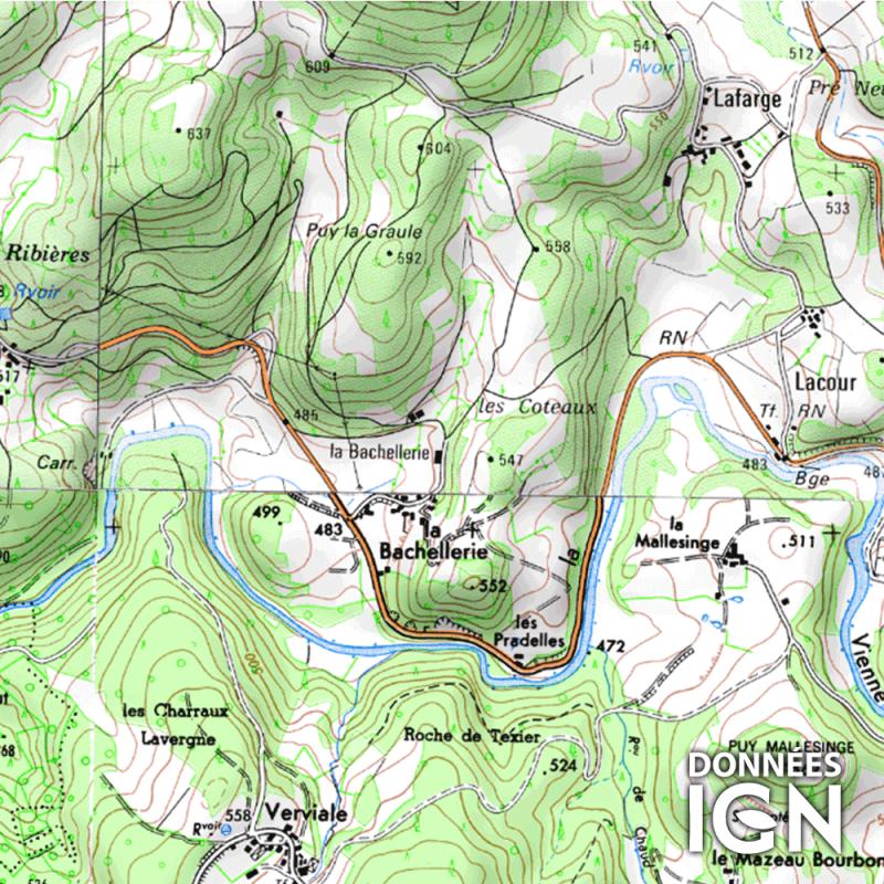 Département IGN - Haute-Vienne 87 - 1 : 25 000