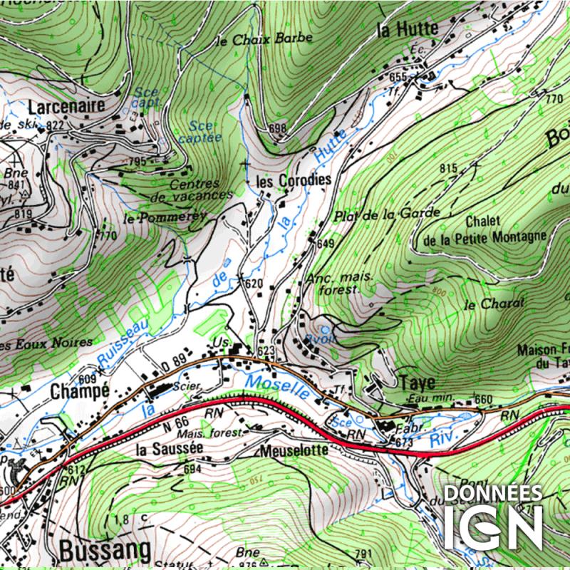 Département IGN - Vosges 88 - 1 : 25 000
