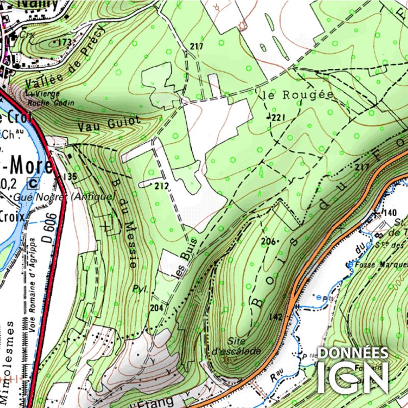 Département IGN - Yonne 89 - 1 : 25 000