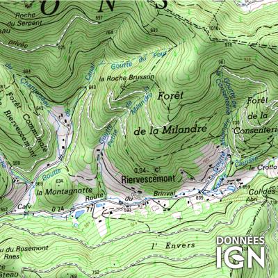 Département Territoire de Belfort (90) - 1 : 25 000