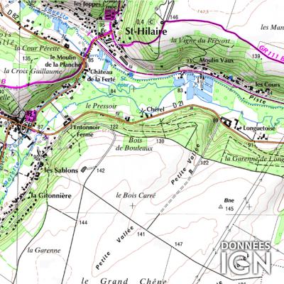 Département IGN - Essonne 91 - 1 : 25 000