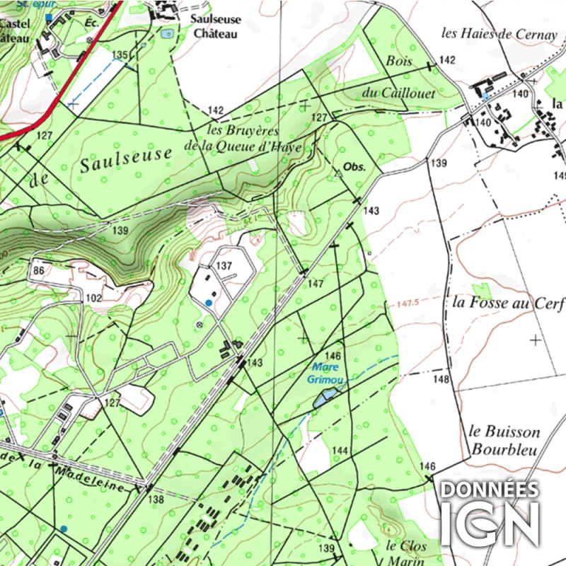 Département IGN - Val-d'Oise 95 - 1 : 25 000