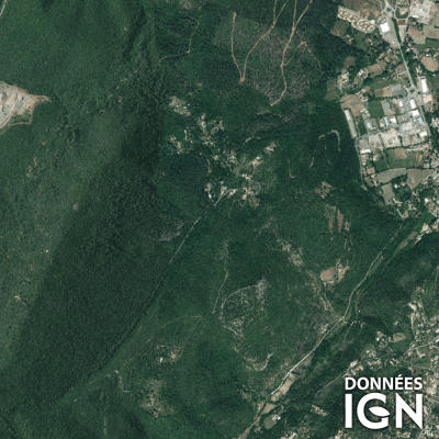 Département IGN - Satellite - Gard 30 - 1 : 25 000