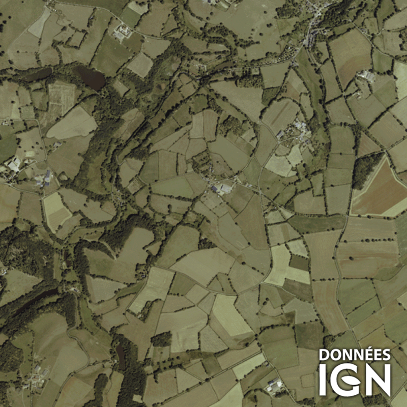 Département IGN - Satellite - Indre 36 - 1 : 25 000