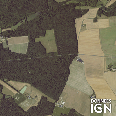 Département IGN - Satellite - Indre-et-Loire 37 - 1 : 25 000