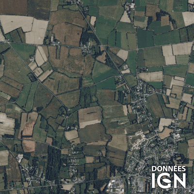 Département IGN - Satellite - Loire Atlantique 44 - 1 : 25 000