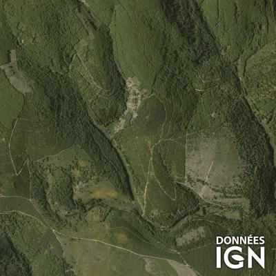 Département Lozère (48) - Satellite - 1 : 25 000