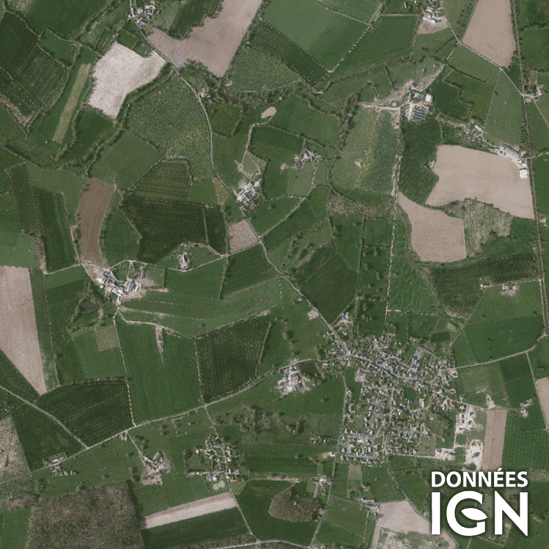 Département IGN - Satellite - Mayenne 53 - 1 : 25 000