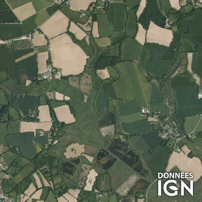 Département IGN - Satellite - Morbihan 56 - 1 : 25 000