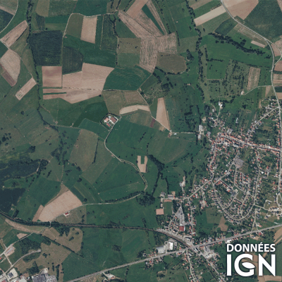 Département IGN - Satellite - Moselle 57 - 1 : 25 000