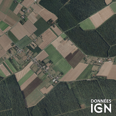 Département IGN - Satellite - Nord 59 - 1 : 25 000