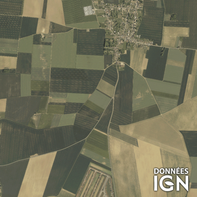 Département IGN - Satellite - Oise 60 - 1 : 25 000