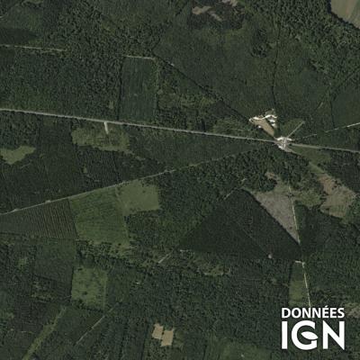 Département IGN - Satellite - Orne 61 - 1 : 25 000