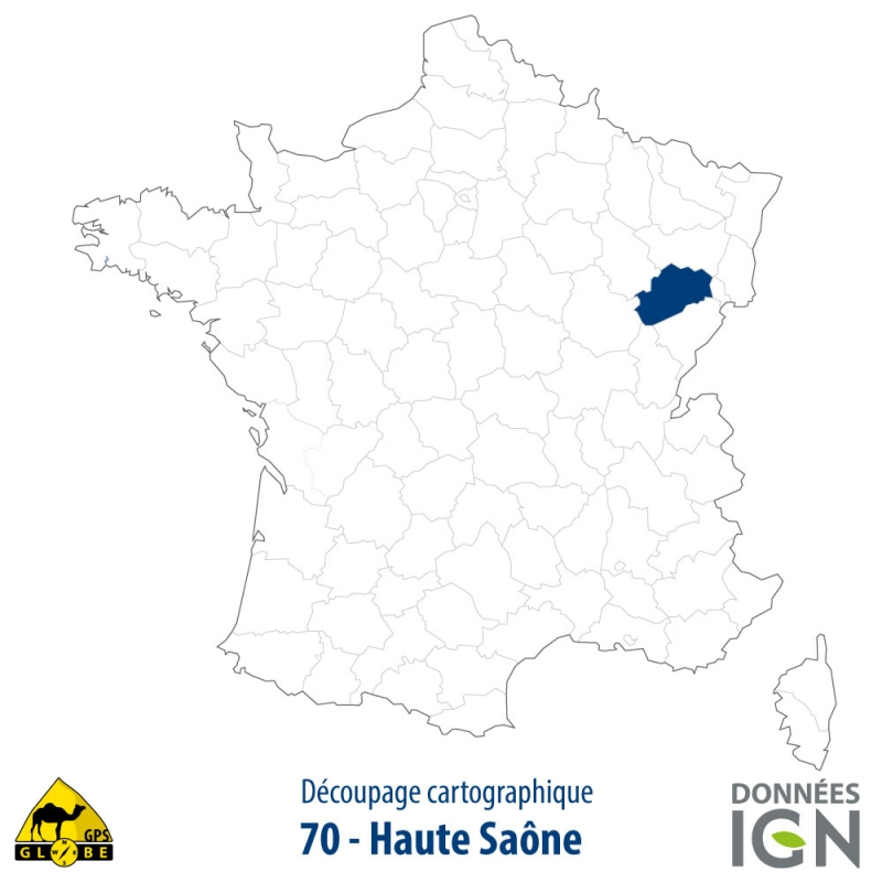 Carte satellite ign au 1 25 000 pour gps haute saone for 70 haute saone
