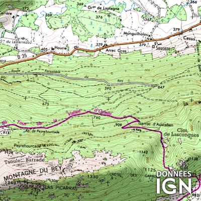 Département Pyrénées-Atlantiques (64) - 1 : 25 000
