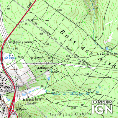 Région IGN - Champagne Ardennes - 1 : 25 000