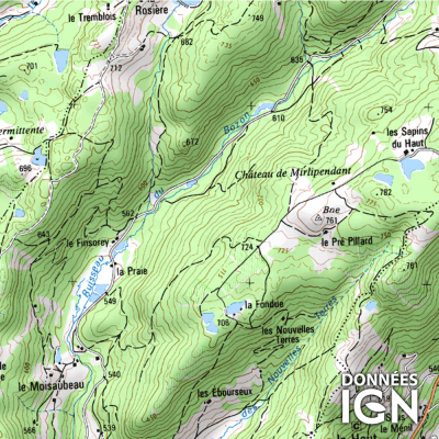 Région IGN - Franche Comté - 1 : 25 000