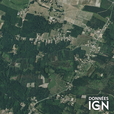 France IGN - Satellite - Quart de France - 1 : 25 000