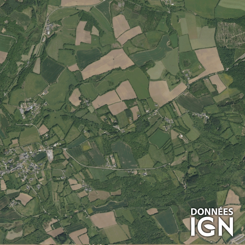 France IGN - Satellite - Demi France - 1 : 25 000