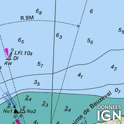 Carte marine IGN et SHOM - Atlantique + Méditerranée